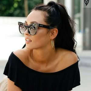Perverse Cosmopolitan Black Oversized Sunglasses